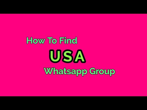 How to find USA Whatsapp Group link