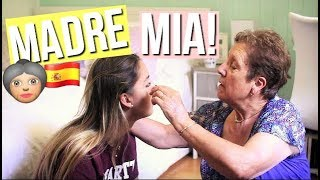 MA MAMIE ESPAGNOLE ME MAQUILLE! | MADRE MIA!