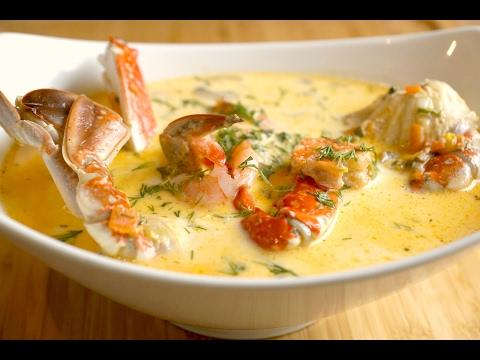 seafood cream soup recipe  …طريقة عمل شوربة السيفود بالكريمة