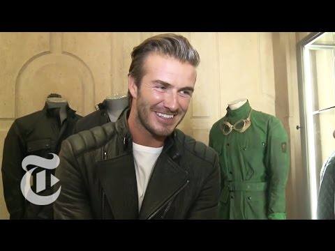 David Beckham Interview: Motorcycle Style at London Fashion Week