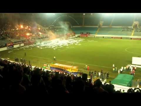 """""""Tifo Brujos Chaimas. Monagas SC - Liga de Loja"""" Barra: Guerreros Chaimas • Club: Monagas"""