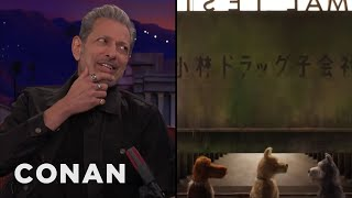 """Jeff Goldblum Recorded His Part In """"Isle Of Dogs"""" Over The Phone  - CONAN on TBS"""