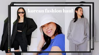 KOREAN FASHION UNBOXING & TRY-ON HAUL (new Clothes Got Me Acting Up) | BLACKUP (블랙업)