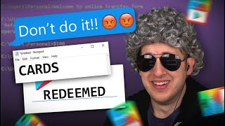 Scammer Lost His Mind When I Redeemed Gift Cards