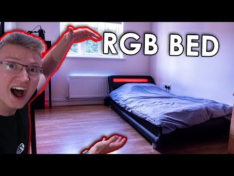 RGB LED Bed Unboxing/Review – RGB Bedroom