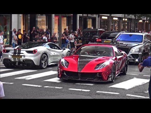 BIG CROWDS react to Mansory Stallone Ferrari 812 Superfast in London!