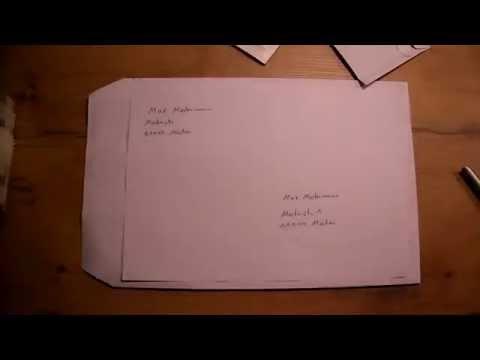 Umschlag richtig beschriften - Brief beschriften  - Versandtasche beschriften - Umschlag adressieren