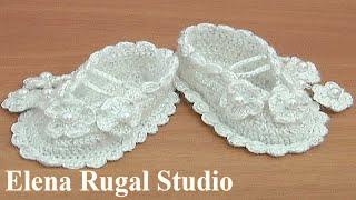 How to Crochet Baby Booties Tutorial 36 Part 2 of 2