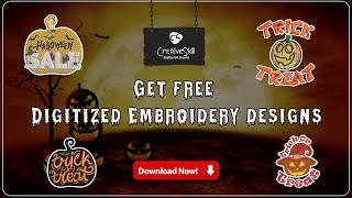 Get The Free Halloween Embroidery Designs   Cre8iveSkill