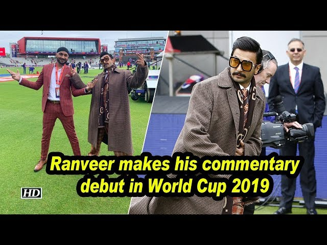 Ranveer Singh makes his commentary debut in World Cup 2019