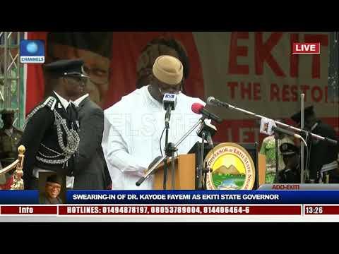 Fayemi says Ekiti in N170b debt, describes Fayose's tenure as an error