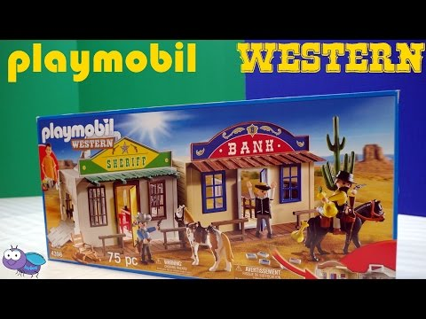 Playmobil Western set Unbox and Playtime!