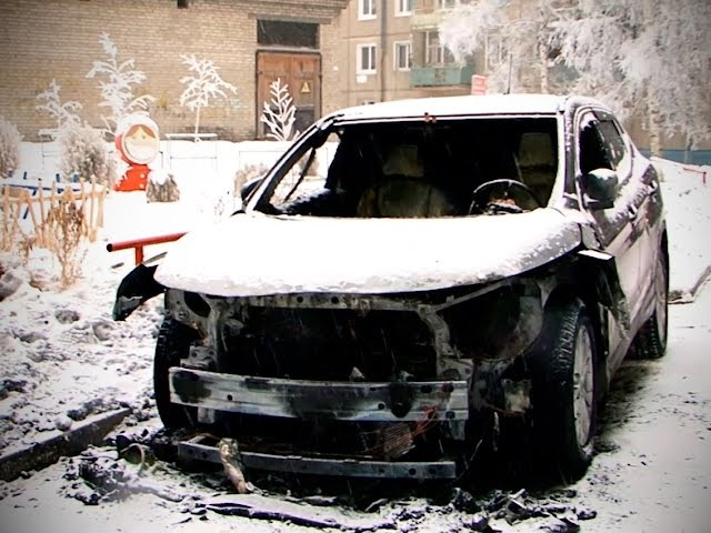 Автомобили сгорели в Ангарске