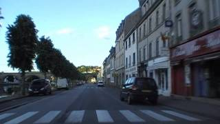 preview picture of video 'Driving Through Châteaulin, Finistere, Brittany, France 23rd July 2010'
