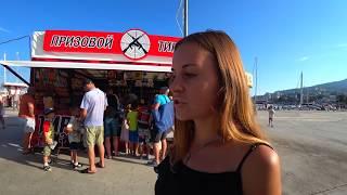 Ялта. На МАССАНДРОВСКОМ пляже ЦЕНЫ ШОК. Сколько туристов в Ялте? Набережная битком забита!