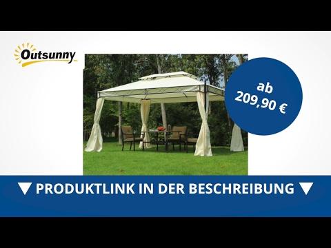 Outsunny Luxus Pavillon Gartenzelt Pagode 3x4 m - direkt kaufen!