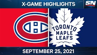 NHL Pre-Season Highlights   Canadiens vs. Maple Leafs – September 25th, 2021