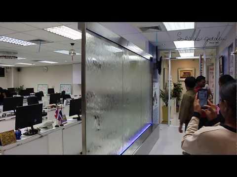 ม่านน้ำกระจกสำหรับตกแต่งออฟฟิส
