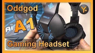 Review: Oddgod A1   LED Gaming Headset   Kopfhörer mit Mikrofon