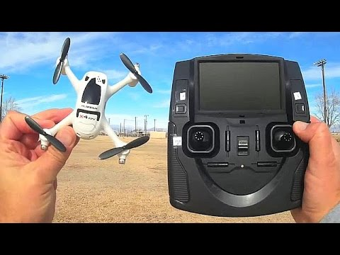 Hubsan X4 H107D Plus Altitude Hold 5.8 Ghz FPV Drone Flight Test Review
