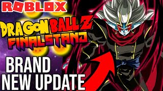 DBZ Final Stand JUST GOT ITS BIGGEST UPDATE! Roblox Dragon Ball Z Final Stand New Map, Moves, + More