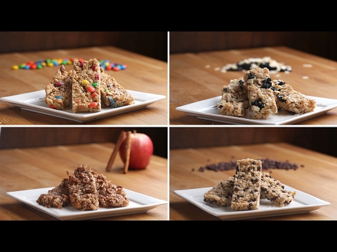 Homemade Chewy Granola Bars 4 Ways