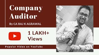 Auditing (Topic: Company Auditor) by CA Raj K Agrawal