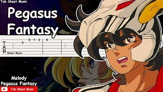 Saint Seiya OP 1 - Pegasus Fantasy Melody Guitar Tutorial