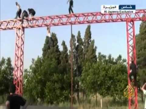 الجيش الحر يحول أحد الملاعب إلى ساحة لتدريب عناصره