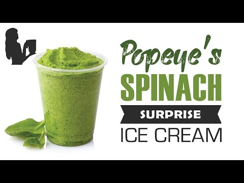Video Popeye's Spinach Surprise Ice Cream recipe made using a Vitamix or Blendtec commercial blender