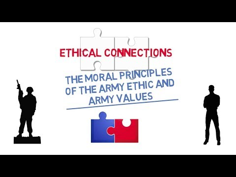 Ethical Connections: The Moral Principles of the Army Ethic and Army Values Screenshot