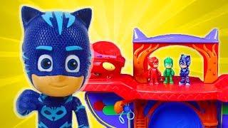 PJ Masks Toys Videos - PJ Masks Slime Trouble! Catboy, Owlette and Gekko Toys   PJ Masks Official