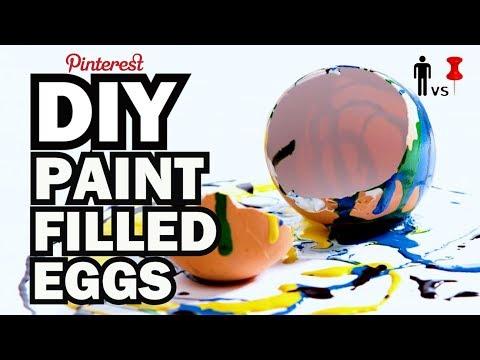 DIY Paint Filled Eggs - Kid Vs Pin