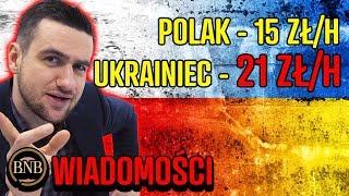 Ukraińcy będą zarabiać WIĘCEJ od Polaków na TYCH SAMYCH stanowiskach| WIADOMOŚCI