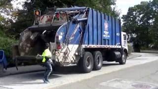 Republic Services 1018 ~ Ex BFI Waste Services Mack MR Leach 2RII Rear Loader