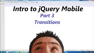 jQuery Mobile Lesson 3 - Data Transitions