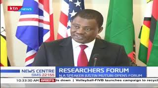 House Speaker Justin Muturi opens Researchers forum in Nairobi
