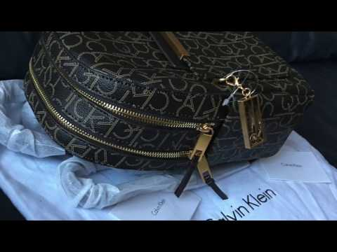 Calvin Klein Backpack Unboxing Designer Bags Trendy double zip review