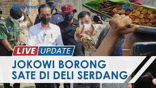 Saat Jokowi Borong Sate Warga di Deli Serdang, Pedagang Langsung Dapat Amplop Putih