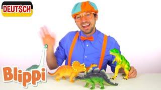 Blippi Deutsch - Lerne die Dinosauriernamen | Abenteuer und Videos für Kinder