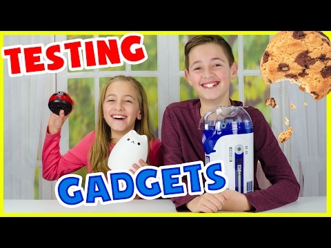 TESTING WEIRD & COOL GADGETS PART 2! Crumby, Ice Cream Sandwich maker, R2D2 popcorn maker