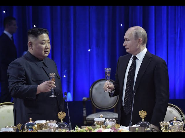 Vladimir Putin and Kim Jong Un meet for the first time