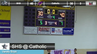 Boys Basketball at LR Catholic - 2/16/18