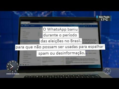 WhatsApp cancela contas de empresas de mensagens