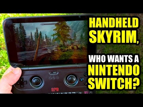 Handheld Skyrim! EASY… Who needs A Nintendo Switch? ;) - GPD WIN REVIEW