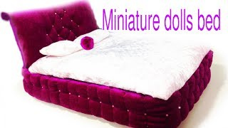 DIY Princess Bed  For Dolls.DIY Miniature Dolls Bed.Barbie Bed