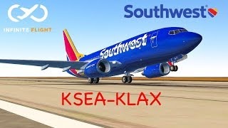 |Infinite Flight| Seattle to Los Angeles : Southwest Airlines, Boeing 737-700