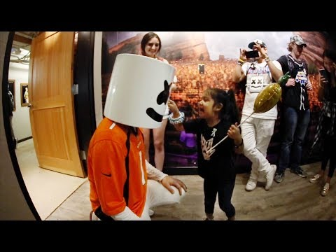Marshmello Makes a New Friend at Red Rocks