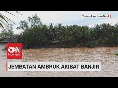 Banjir Bandang Terjang Tasikmalaya, 5 Orang Tewas, Jembatan Ambruk & Tiga Desa Terendam