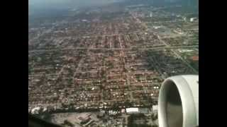 United Airlines A320 Miami take off